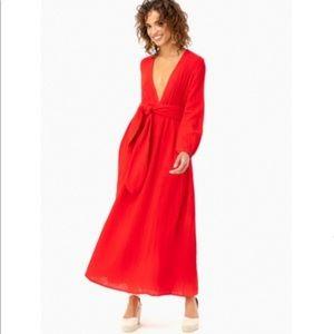 Mara Hoffman Red Luna Dress